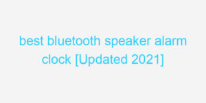 best bluetooth speaker alarm clock [Updated 2021]