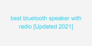 best bluetooth speaker with radio [Updated 2021]